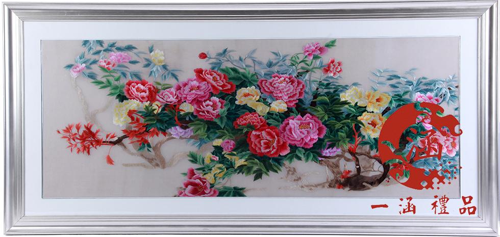 牡丹刺绣图片